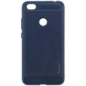 Оригинальный синий силиконовый (TPU) чехол (бампер) Ipaky Slim Series для Xiaomi Redmi Note 5A Prime / Y1 (Navy Blue)