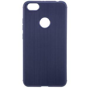 Синий силиконовый (TPU) чехол (бампер) Metal для Xiaomi Redmi Note 5A Prime / Y1 (Navy Blue)