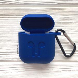 Cиний силиконовый чехол для Apple Airpods (Blue)