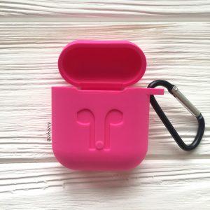 Розовый силиконовый чехол для Apple Airpods (Pink)