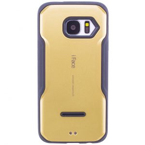 Черно-золотой (TPU+PC) чехол iFace для Samsung G930 Galaxy S7 (Black/Gold)