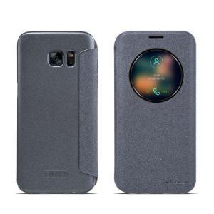 Черный чехол-книжка с окном Nillkin Sparkle Series для Samsung G935 Galaxy S7 Edge (Black)