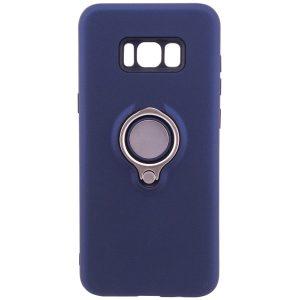 Синий (TPU+PC) чехол (бампер) Deen с кольцом и креплением под магнитный держатель для Samsung G950 Galaxy S8 (Blue)