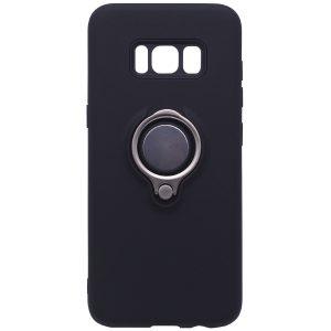 Черный (TPU+PC) чехол (бампер) Deen с кольцом и креплением под магнитный держатель для Samsung G950 Galaxy S8 (Black)