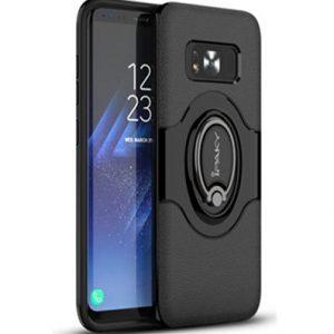 Черный (TPU+PC) чехол (бампер) Ipaky Feather с кольцом и креплением под магнитный держатель для Samsung G950 Galaxy S8 (Black)