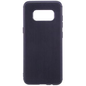 Черный силиконовый (TPU) чехол (накладка) Metal для Samsung G950 Galaxy S8 (Black)