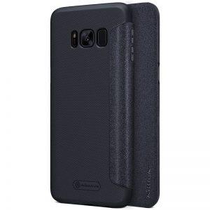 Черный кожаный чехол-книжка Nillkin Sparkle Series для Samsung G950 Galaxy S8 (Black)