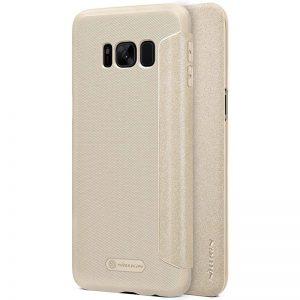 Золотой кожаный чехол-книжка Nillkin Sparkle Series для Samsung G950 Galaxy S8 (Gold)