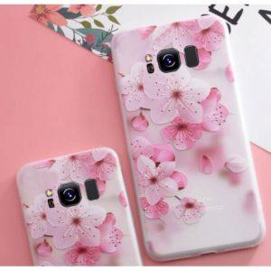 Матовый силиконовый (TPU) чехол (накладка) Soft Touch с сакурой для Samsung G950 Galaxy S8