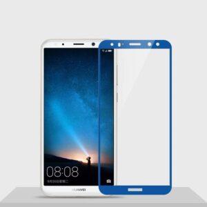 Защитное стекло 2.5D (3D) Full Cover на весь экран для Huawei Mate 10 Lite – Blue