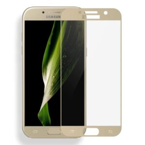 Защитное стекло 2.5D (3D) Mocolo Full Cover на весь экран для Samsung Galaxy A7 2017 (A720) – Gold