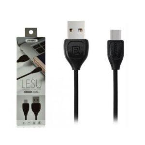 Кабель Micro USB REMAX Lesu RC-050i Dock  черный ультрапрочный 1 m
