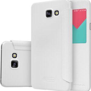 Кожаный чехол (книжка) Nillkin Sparkle Series для Samsung Galaxy A7 2016 (A710) Белый