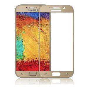 Защитное стекло 2.5D (3D) Full Cover на весь экран для Samsung Galaxy A3 2017 (A320) — Gold
