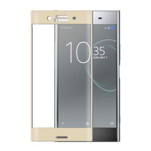 Защитное стекло 3D Full Cover для Sony Xperia X на весь экран – Gold