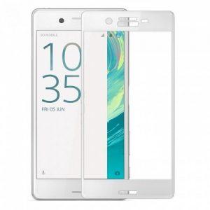 Защитное стекло 3D Full Cover для Sony Xperia X / X Dual на весь экран – White