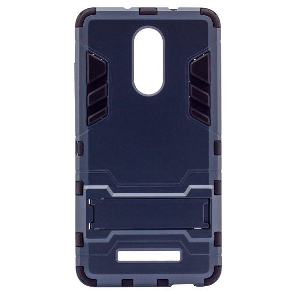 Ударопрочный чехол-подставка Transformer для Xiaomi Redmi Note 3/Note 3 Pro с мощной защитой корпуса Серый / Metal slate