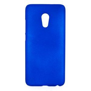 Защитный пластиковый матовый синий чехол для Meizu Pro6