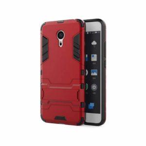Ударопрочный чехол Transformer с подставкой для Meizu Pro 6 Plus (Dante Red)