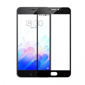 Защитное стекло 2.5D (3D) Full Cover на весь экран для Meizu U20 – Black