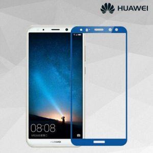 Защитное стекло 2.5D (3D) Full Cover на весь экран для Huawei Mate 10 Lite — Blue