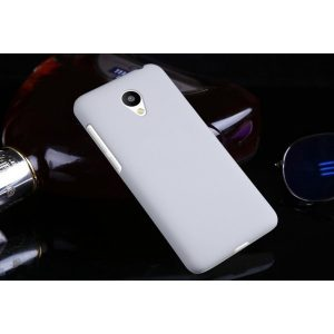 Защитный пластиковый матовый белый чехол для Meizu Pro6