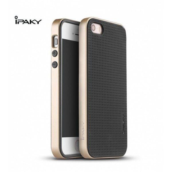Чехол iPaky TPU+PC для Apple iPhone 5/5S/SE Черный / Золотой