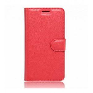 Кожаный чехол (книжка) Wallet с визитницей для Meizu M3 Note Красный