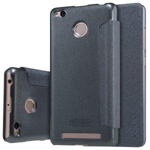 Кожаный чехол (книжка) Nillkin Sparkle Series для Xiaomi Redmi 3 Pro / Redmi 3s (Черный)