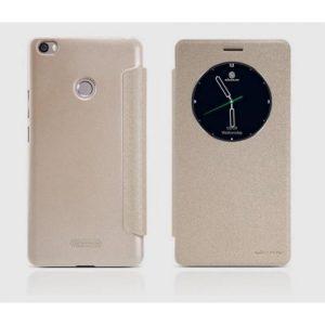 Кожаный чехол (книжка) Nillkin Sparkle Series для Xiaomi Mi Max (Золотой)