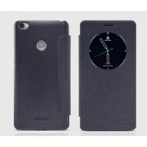 Кожаный чехол (книжка) Nillkin Sparkle Series для Xiaomi Mi Max (Черный)