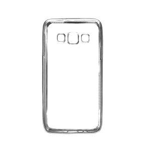 Прозрачный силиконовый чехол для Samsung A300H / A300F Galaxy A3 с глянцевой окантовкой(Silver)