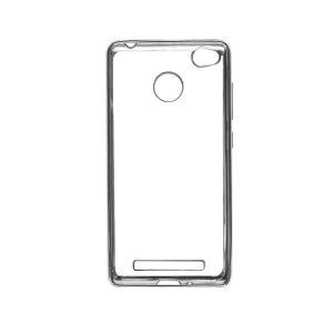Прозрачный силиконовый чехол для Xiaomi Redmi 3 Pro / Redmi 3s с глянцевой окантовкой (Серебряный)