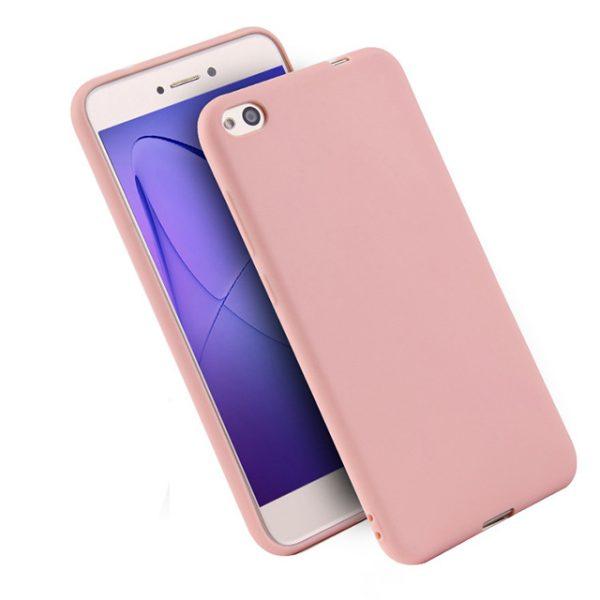 Силиконовый чехол Candy для Xiaomi Redmi 4a (Розовый)