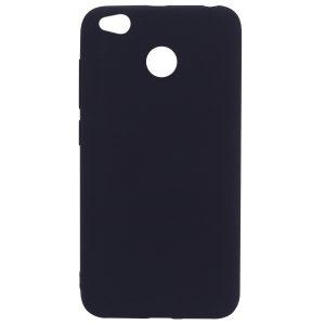 Матовый силиконовый TPU чехол для Xiaomi Redmi 4X (Черный)