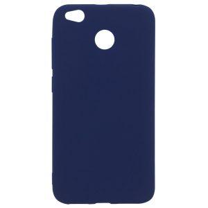 Матовый силиконовый TPU чехол для Xiaomi Redmi 4X (Синий)