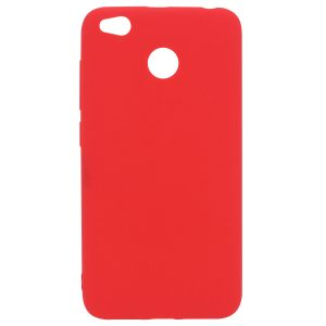Матовый силиконовый TPU чехол для Xiaomi Redmi 4X (Красный)