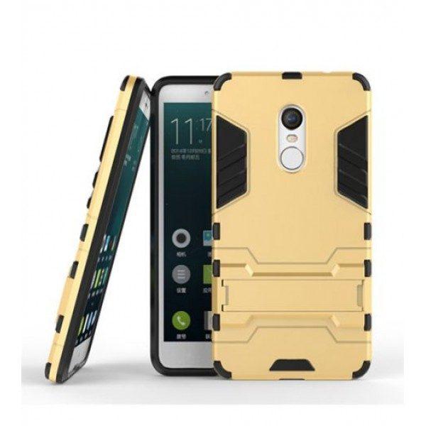 Ударопрочный чехол-подставка Transformer для Redmi Note 4X / Note 4 (SD) с мощной защитой корпуса Золотой / Champagne Gold