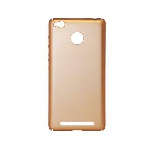 Пластиковая накладка soft-touch с защитой торцов Joyroom для Xiaomi Redmi 3 Pro / Redmi 3s (Gold)