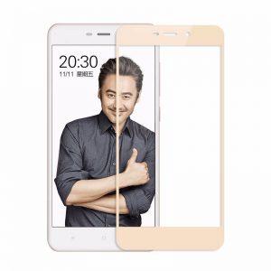 Защитное стекло 2.5D (3D) Full Cover на весь экран для Xiaomi Redmi 4A – Gold