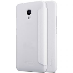 Кожаный чехол (книжка) Nillkin Sparkle Series для Meizu M5s Белый