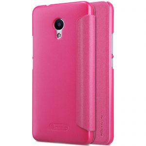 Кожаный чехол (книжка) Nillkin Sparkle Series для Meizu M5s Розовый
