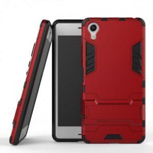 Ударопрочный чехол Transformer с подставкой для Sony Xperia XA / XA Dual (Dante Red)
