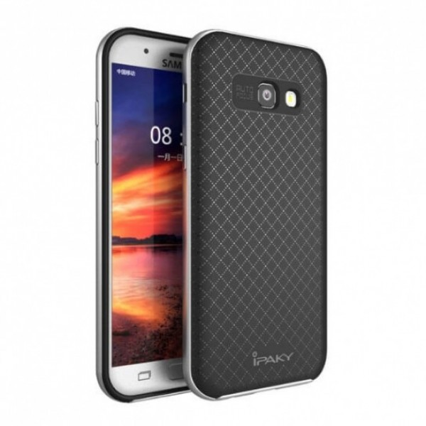 Чехол iPaky TPU+PC для Samsung A520 Galaxy A5 (2017) Черный / Серебряный
