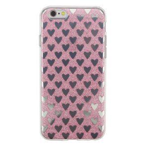 "Cияющий TPU чехол с сердечками для Apple iPhone 6/6s (4.7"") Розовый"