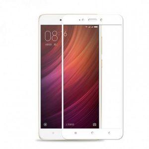 Защитное цветное стекло Mocolo (CP+) на весь экран для Xiaomi Redmi Note 4X / Note 4 (SD) Белый