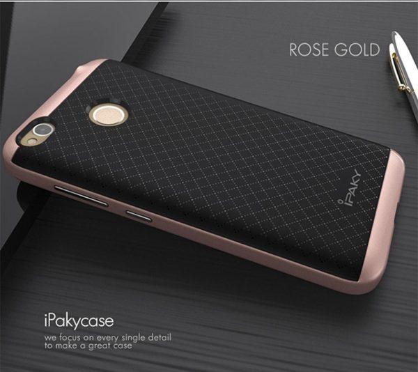 Чехол iPaky TPU+PC для Xiaomi Redmi 4X (Черный / Rose Gold)