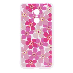 TPU чехол матовый soft touch с розовыми цветами для Xiaomi Redmi Note 4X / Note 4 (SD)