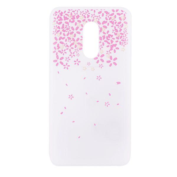 Силиконовый матовый чехол soft touch для Xiaomi Redmi Note 4X / Note 4 (SD) Розовые цветы