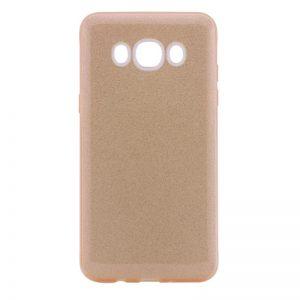Силиконовый (TPU) чехол – бампер с блестками Shine для Samsung J710F Galaxy J7 (2016) Золотой